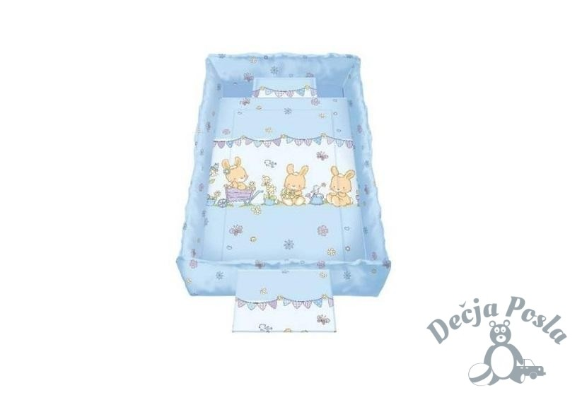 Lorelli Bertoni posteljina set Happy Blue Bunnies